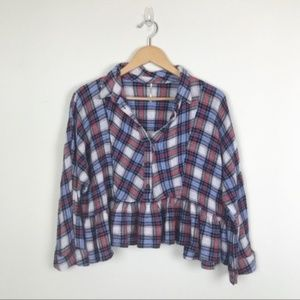 Free People | Promise Everything Plaid Shirt